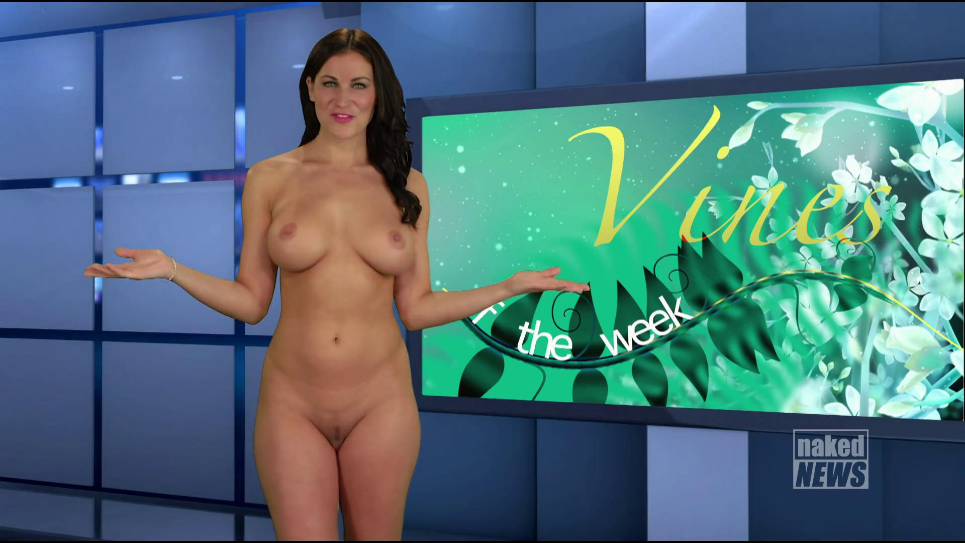 Naked weather girl photo