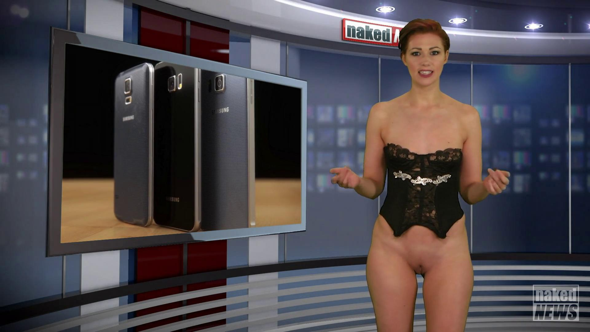 Naked news shoot face