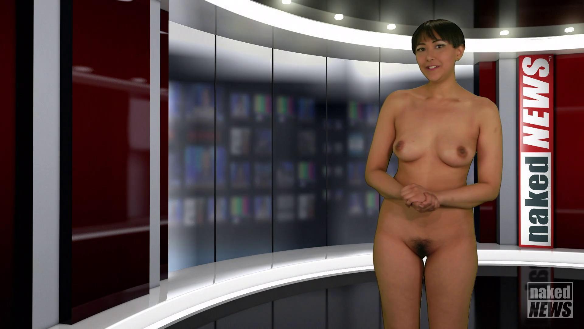 Nude tv anchor woman