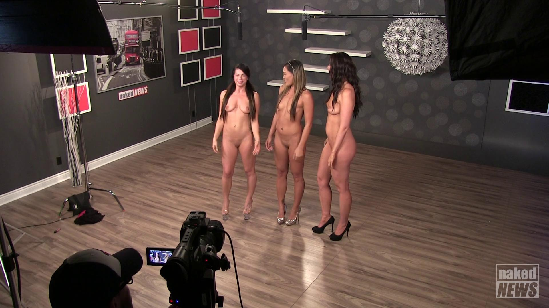 Four hot girls play a game, loser strips and more