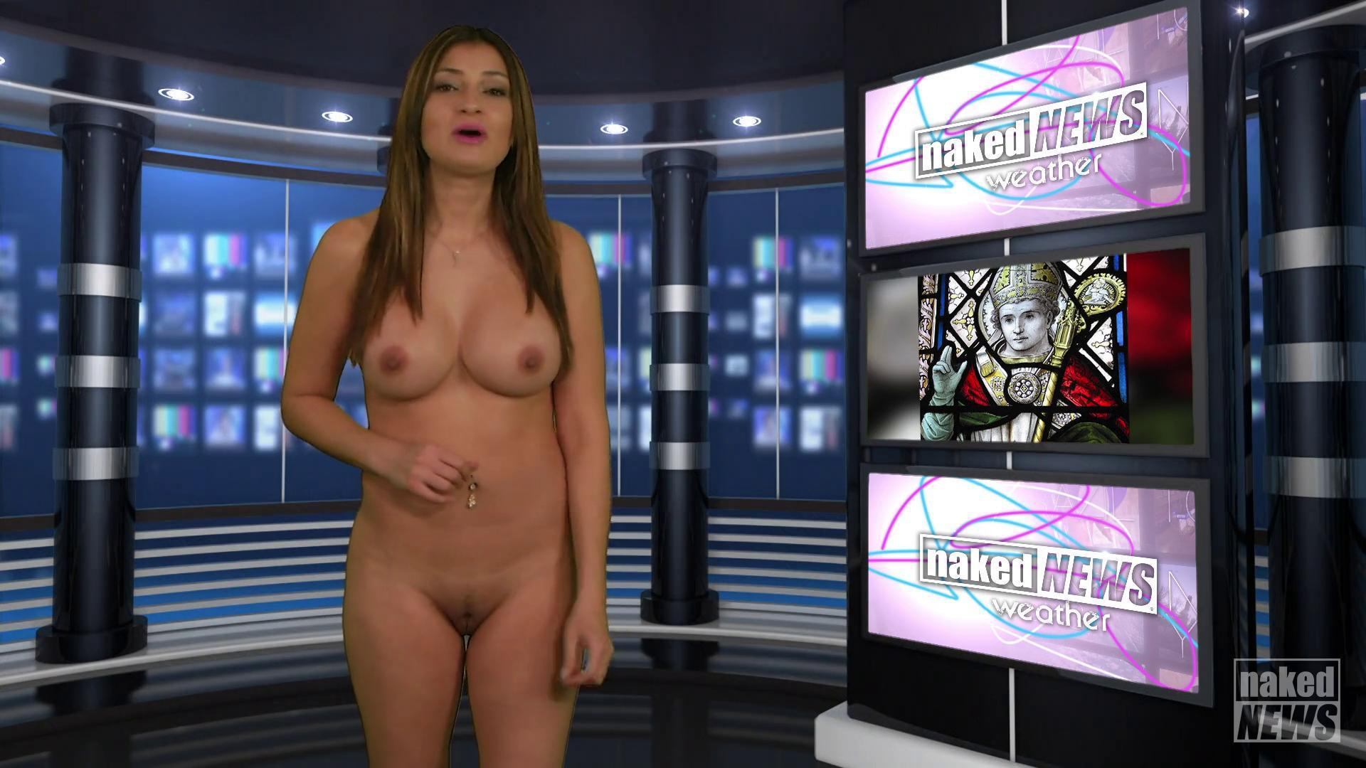 Weather girl nude Sexy weather