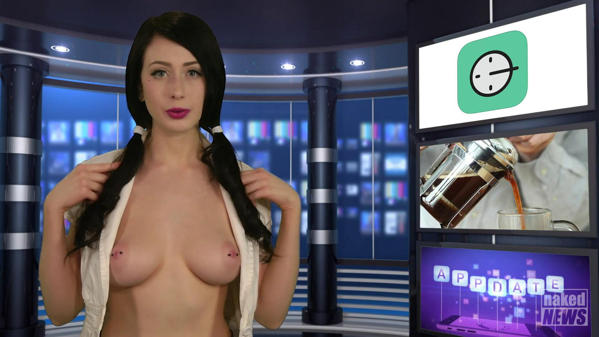 French naked news anchor