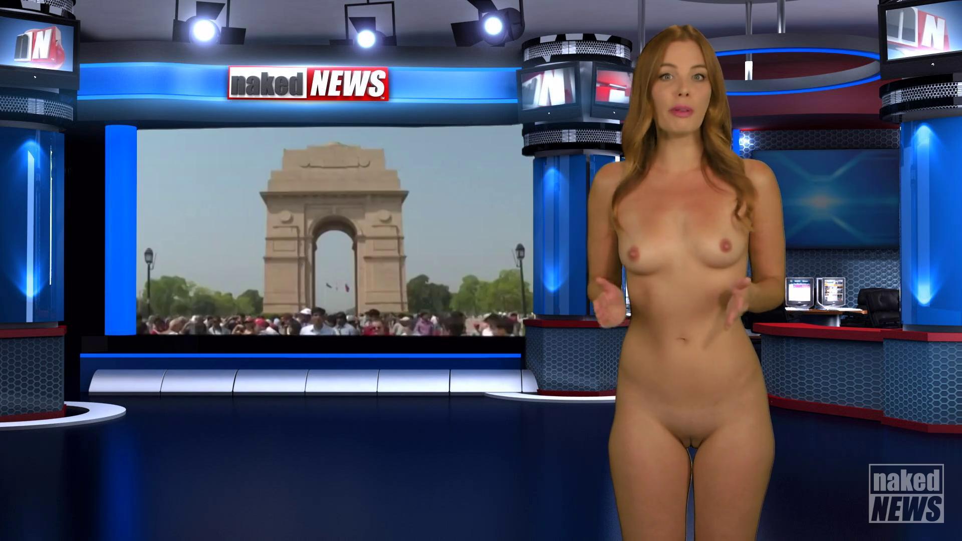 Nude female weather forecaster — img 8