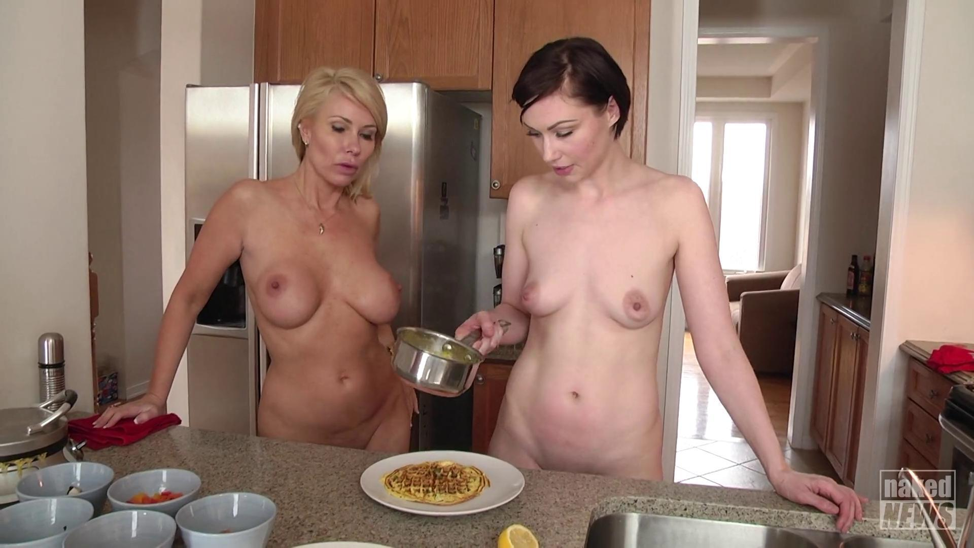 Cooking In The Raw With Some Hot Babes Naked News
