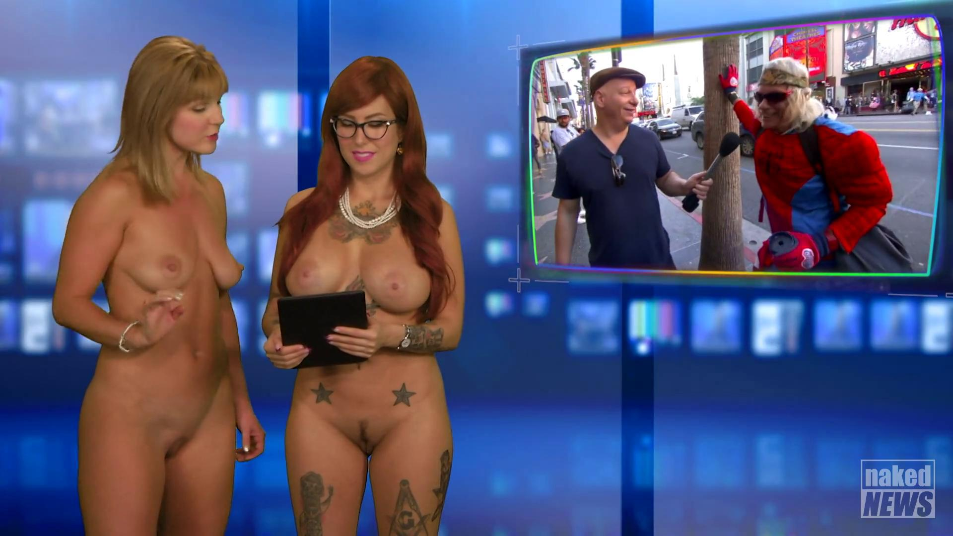 Weather Girl Does Forecast Nude