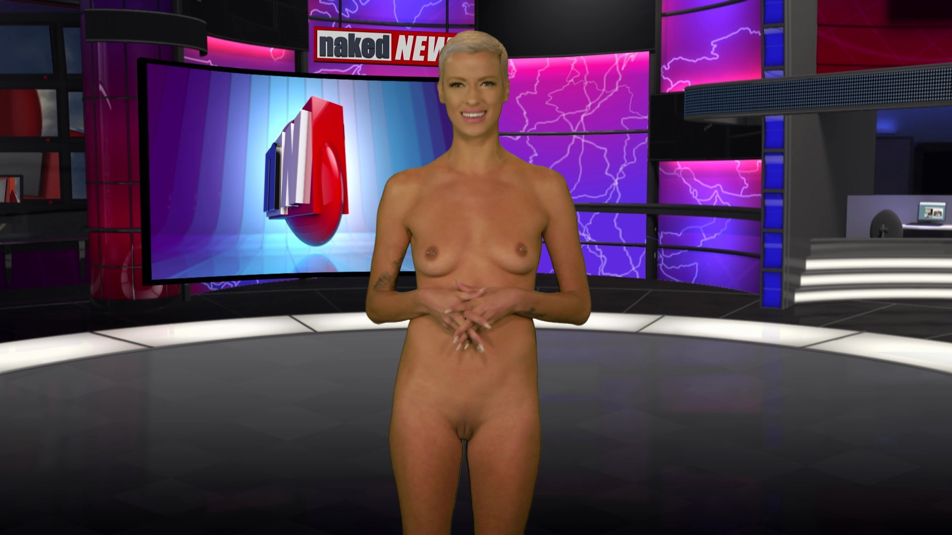 Nude news, cfnf, cmnf, the only one naked photo