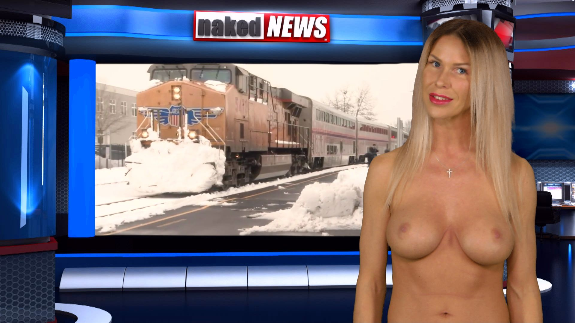 News Anchor bare naked